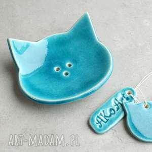 pracownia ako turkusowy kot - mydelniczka ceramiczna, mydelniczka