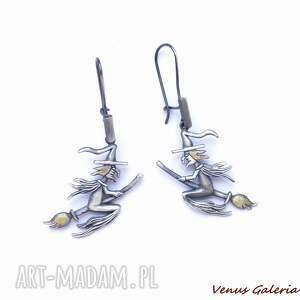 Kolczyki srebrne - Wiedźmy , bizuteria, srebro, kolczyki