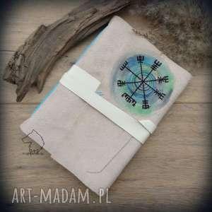 notes a5 ze skórzaną miękką okładką vegvisir - ręcznie robiony i malowany, wikingowie