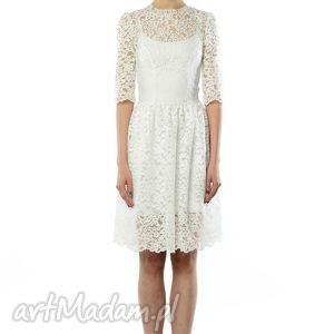Olivia - koronkowa sukienka, koktajlowa, ślubna,