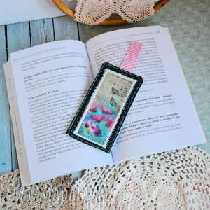 maly koziolek zakładka do książki - motyle w ogrodzie / babeczka