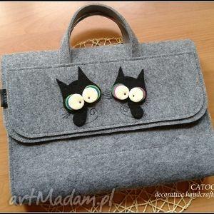 teczka na laptop dokumenty, catoo, prezent, teczka, kotki, torebka, torebki