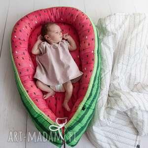 hand-made pokoik dziecka kokon, gniazdko niemowlęce arbuz