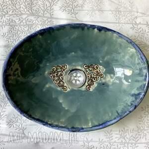 """hand-made ceramika ceramiczna umywalka """"morska toń"""""""