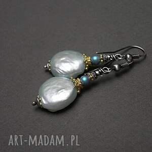 pearls /baby blue/ - kolczyki
