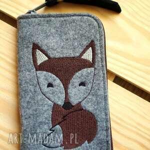 filcowe etui na telefon - lisek, smartfon, pokrowiec, futerał, prezent, fox