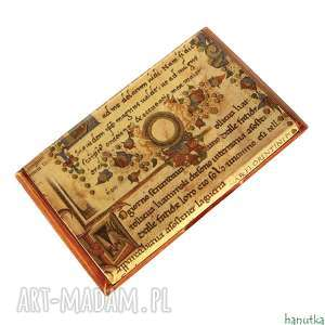 hand made etui manuskrypt - wizytownik, na karty płatnicze