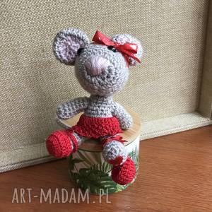 zabawki wyprzedaż słodka myszka baletnica, myszka, maskotka, szydełko, prezent