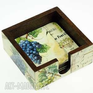 podkładki pod kubki- winogrono, podkładki, podstawki, pod, kubki, winogrona