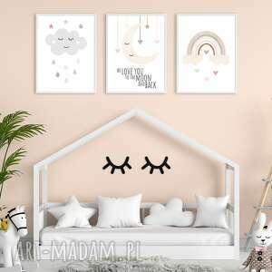 plakaty dla dzieci zestaw a3 - styl skandynawski