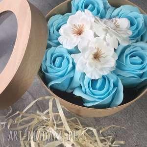 box flowers with soap, valentines, days, super, prezent, urodziny