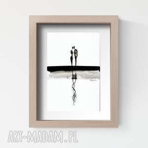obrazek malowany ręcznie A4, abstrakcja, minimalizm, grafiki-do-salonu