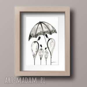 obrazek A4 namalowany ręcznie, minimalizm, abstrakcja czarno-biała