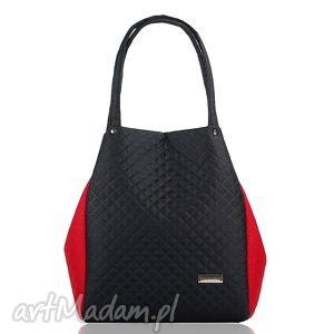 na ramię torebka pikowana simple 216, torebka, pikowana, uszyta, duża torebki