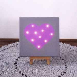 dla dziecka świecący obraz serce personalizowany prezent lampka dekoracja