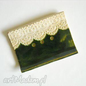 zielona mydelniczka, ceramika, glina, prezent na święta