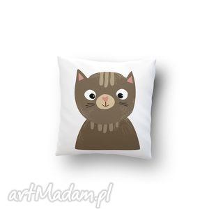 handmade poduszki poszewka - kot