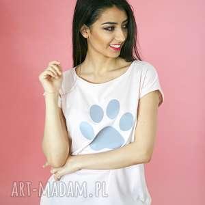 t-shirt bawełniany różowy z łapką koszulka rozmiary od s do xl, bawełna, eko