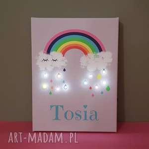 Prezent ŚWIECĄCY obraz LED TĘCZA z IMIENIEM prezent urodziny lampka dla dziewczynki