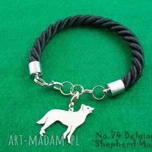 Bransoletka owczarek belgijski malinois pies nr.74, bransoletka, pies, rasy-psów