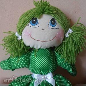gabrysia w zielonej sukience, lalka, maskotka, przytulanka, doll