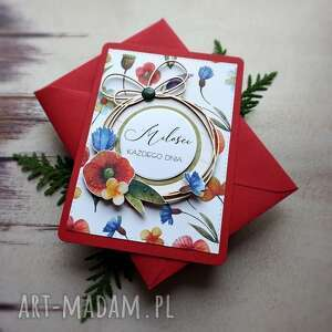 kartki polno mi, ślub, imieniny, urodziny, maki, chabry, lawenda