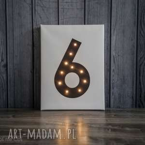 ŚWIECĄCA CYFRA dekoracja lampa prezent obraz, lampa, oświetlenie, cyfra, świecąca