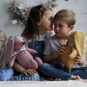 maskotki przytulanka dziecięca brudny róż, królik różowy, maskotka