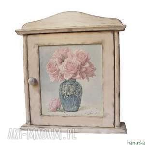 bukiet róż - szafka na klucze, schowek, skrzyneczka, klucz, prezent, klucznik
