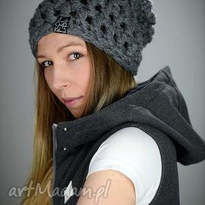 czapka fatty 02 - czapka, wełna, zima, szydełko, gruba, czapa