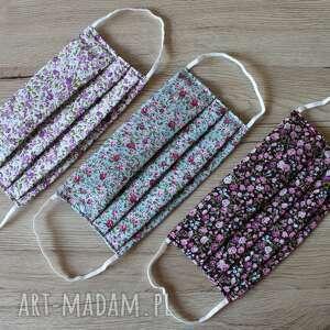 maseczki zestaw maseczek bawełnianych - mini kwiatki, maska, maseczka