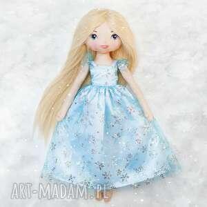 Śnieżna księżniczka - laleczka bawełniana lalki poofy cat lalka