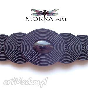 bransoleta sutasz spiral czerń - bransoleta, bransoletka