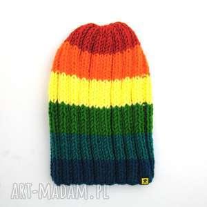 narciarska kolorowa czapka - czapka, czapa, prezent, zimowa, narciarska, kolorowa
