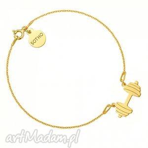 bransoletki złota bransoletka ze sztangą, bransoletka, fit, fitness, srebro