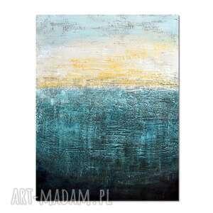 Still water, abstrakcja, nowoczesny obraz ręcznie malowany