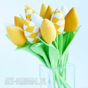 hand-made święta prezenty tulipany 12 szt. Wiosenna dekoracja domu