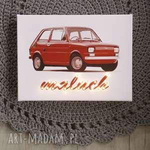 Prezent ŚWIECĄCY maluch auto samochód lampa obraz prezent dla niego chłopca mężczyzny