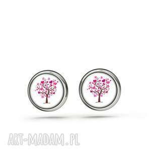 kolczyki sztyfty - drzewko miłości mini, kolczyki, sztyfty, małe