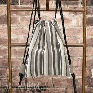 bbag vintage plecak worek, plecak, sznury, prezent, urodzinowy, świąteczny