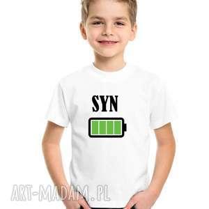 koszulki koszulka dla rodziny dziecięca syn - bateria, syna