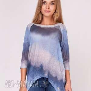 sweterek cieniowany bluebell - ombere, nadruk, bluzka, sweter, dzianina