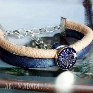 ręcznie robione bransoletki bransoletka skórzana :: znaki zodiaku::