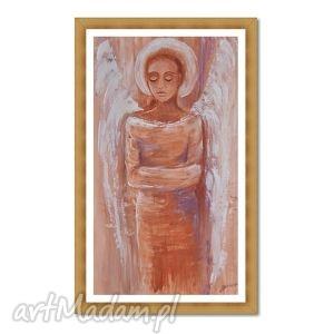 anioł, czekanie, obraz ręcznie malowany, aniol, anioły, obraz, ręcznie