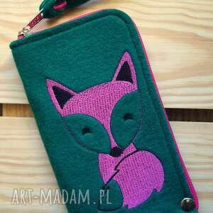 filcowe etui na telefon - lisek, smartfon, pokrowiec, prezent, fox, futerał
