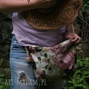 na ramię mini róże plecionce, torebka, torba, lato, vegan, boho