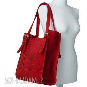 Prezent Ręcznie robiona skórzana torebka czerwona, skórzane torby, torebki