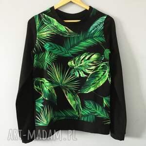 Bluza z wzorem tropikalnym , klasyczna-bluza, tropikalna-bluza, bluza