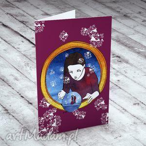 handmade pomysł na święta upominki %nieżna kula... karteczka na życzenia