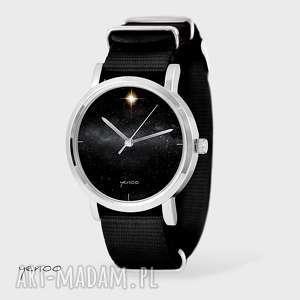 zegarek, bransoletka - star czarny, nato, bransoletka, gwiazda
